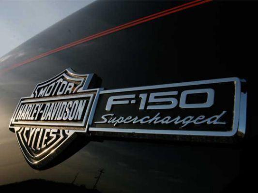 Badge on 2002 Ford F150 Harley Davidson