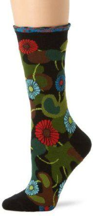 Ozone Women's Flower Camo Socks, Black, One Size Ozone. $15.00