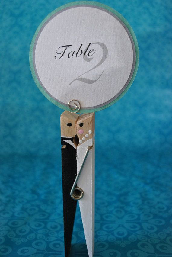 Wedding or Bridal Shower Table Number or Menu Holders