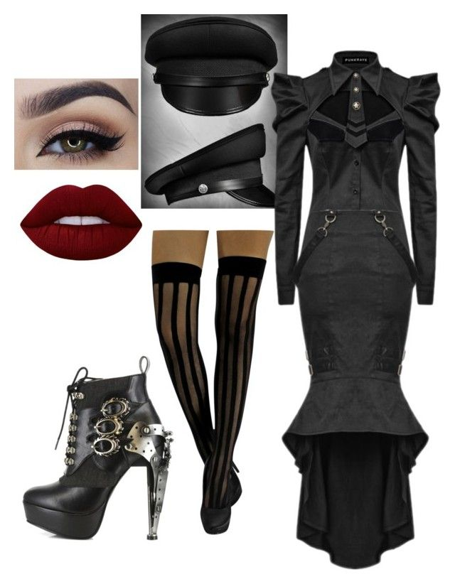 """Dark Army"" by purchasedharpy on Polyvore featuring Lime Crime"
