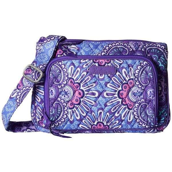Vera Bradley Little Hipster (Lilac Tapestry) Cross Body Handbags ($45) ❤ liked on Polyvore featuring bags, handbags, shoulder bags, cross-body handbag, handbags shoulder bags, crossbody purses, handbags crossbody and hand bags