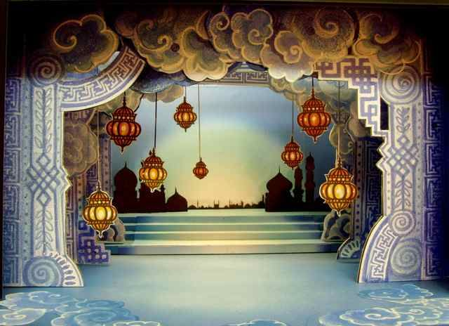Here are a few glimpses from designer Ali Allen of what the set of Aladdin will look like once it opens on Friday 5 December!