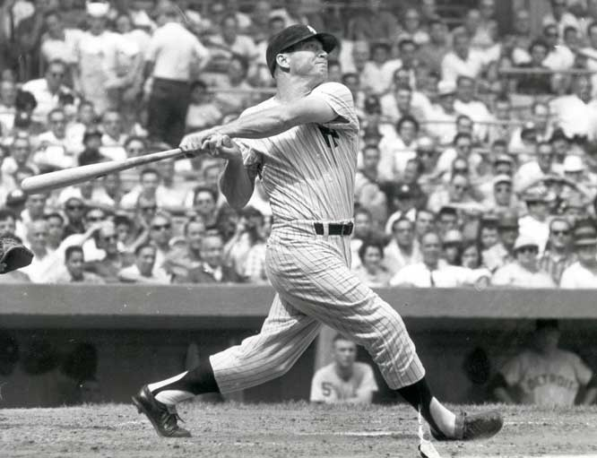 I wanted to hit the ball as far as I could every time I swung at it. — Mickey Mantle