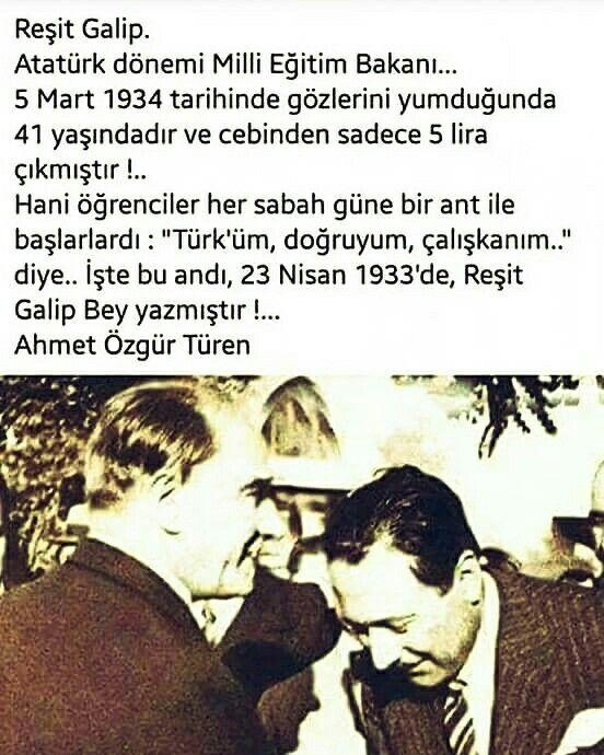 """Türküm, doğruyum, çalışkanım,  İlkem; küçüklerimi korumak, büyüklerimi saymak,  yurdumu, milletimi özümden çok sevmektir.  Ülküm; yükselmek, ileri gitmektir.  Ey büyük Atatürk! Açtığın yolda, gösterdiğin hedefe  durmadan yürüyeceğime ant içerim.  Varlığım, Türk varlığına armağan olsun.  """"Ne mutlu Türküm diyene!"""""""