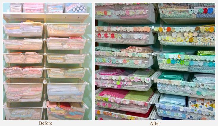 Organizing, classifying and storing my fabrics