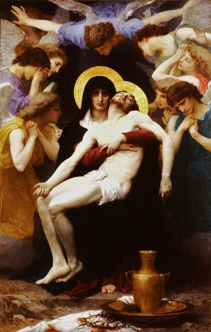 William-Adolphe Bouguereau (1825-1905) - Pieta (1876) modif - Бугро, Вильям — Википедия
