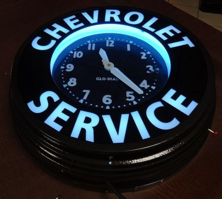 Vintage Rare Original Glo Dial Neon Dealership Sign Clock