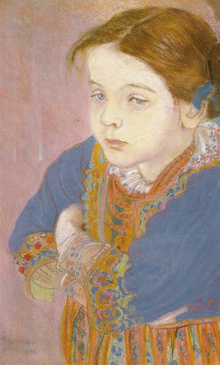 The Athenaeum - Portrait of Helenka in a Folk Costume (Stanislaw Wyspianski - )