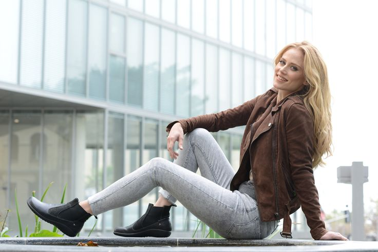 NAOT - KONINI Black Combo (Lifestyle Image) #NAOT #footwear #shoes #boots #orthoticfriendly #removableinnersole #fashion #comfort #bestseller #travel  #takeaseat #style #country #israel #supermodel
