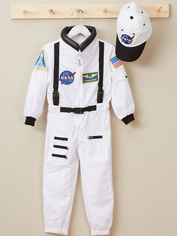 Junior Astronaut Dress Up Costume For Kids: The space shuttle is in countdown mode and your little astronaut is at the helm of a top-secret space mission. Dressed in realistic gear, the sky's the limit when it comes to imagining a galaxy of possibilities.