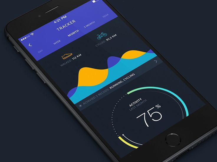 Fitness tracker app by FireArt Studio
