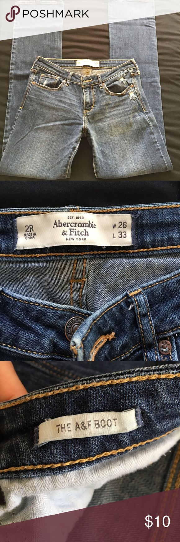 Abercrombie and Fitch Boot cut Jeans Great used condition!! Size 26 regular (2) Abercrombie and Fitch Boot cut Jeans in medium wash. Abercrombie & Fitch Jeans Boot Cut
