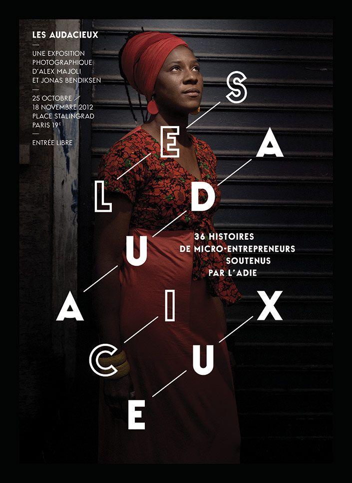 BNP Paribas expositions - Exposition Les Audacieux - Les Graphiquants. Typographie utilisée : La Berline