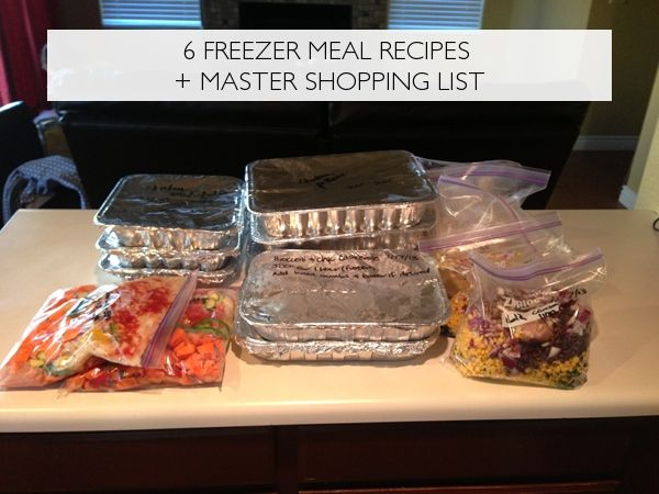 6 Freezer Meal Recipes + a Master Shopping List | Everyday Simple