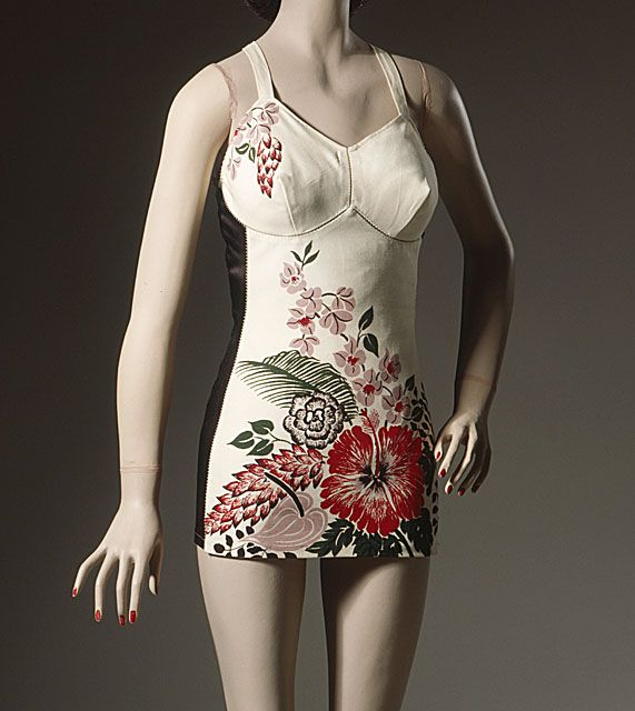 Woman's bathing suit, mid-1940s, by Mary Ann DeWeese.: 1940 S, Bathing Suits, Fashion 1940, Angel County, Vintage Fashion, Los Angeles, County Museums, Suits Mid 1940, Woman Bath Suits