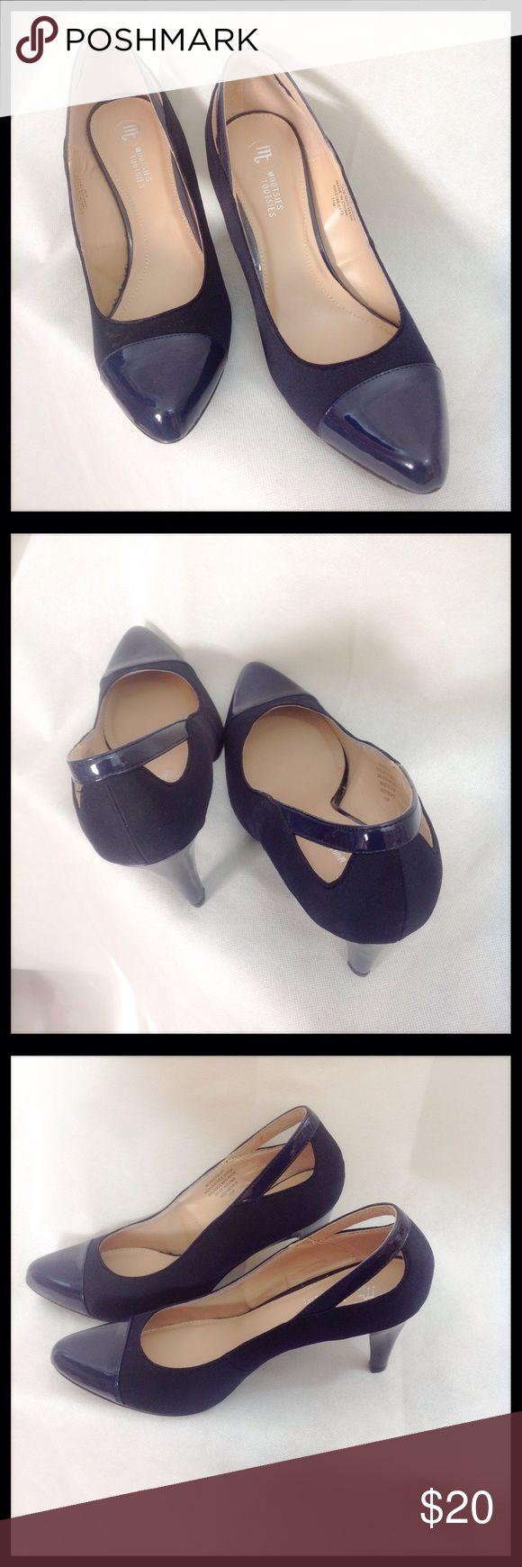 "Mootsies Tootsies Navy Heels - NWOT Mootsies Tootsies navy heels. NWOT. Small chip in bottom of left shoe. Heels 3 1/2"". Shoes Heels"