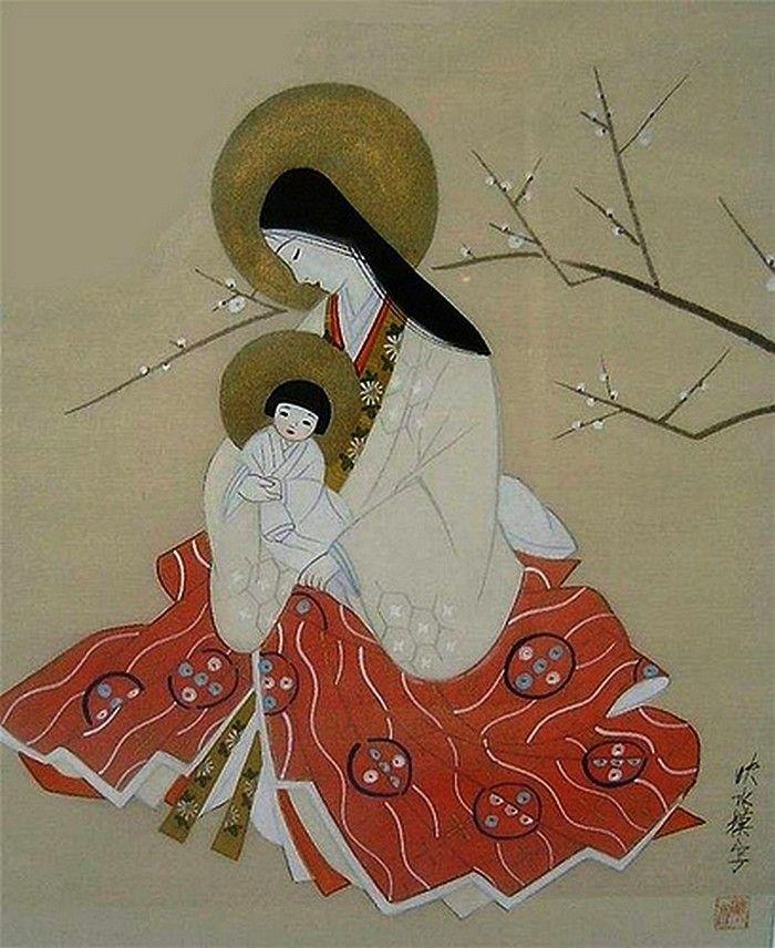 Ieromonah Anatolie,  Hakodate —   Madonna and Child,1879 (700×856)