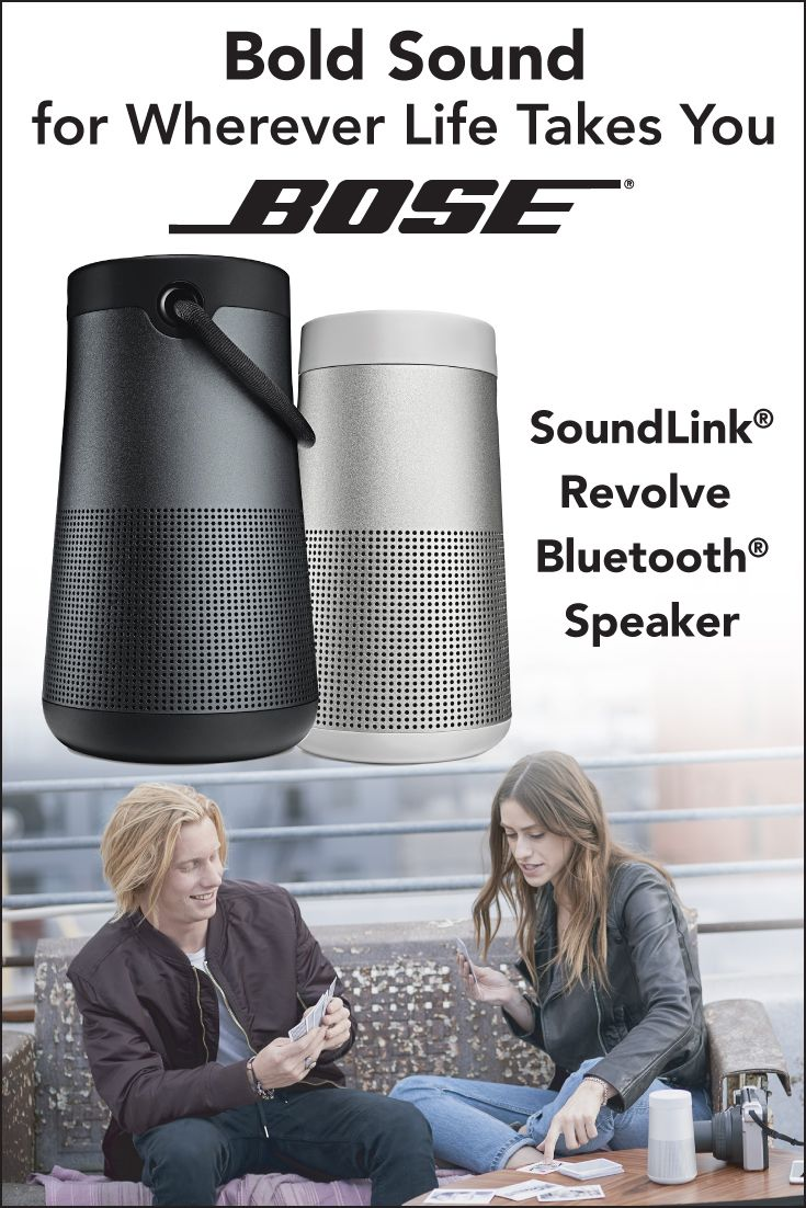 Looking for a wireless speaker that's durable, water-resistant, and easy to grab & go? The @Bose SoundLink® Revolve Bluetooth® speaker is perfect for spring and summer, inspiring fun times and great memories. It's deep, loud, and immersive, too! You can place it in the center of the room for a 360-degree sound experience, or set it up near a wall so sound radiates and reflects. Plus, the rechargeable battery lasts up to 12 hours! Shop now at www.pcrichard.com