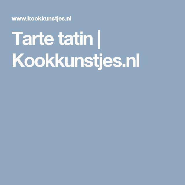 Tarte tatin   Kookkunstjes.nl