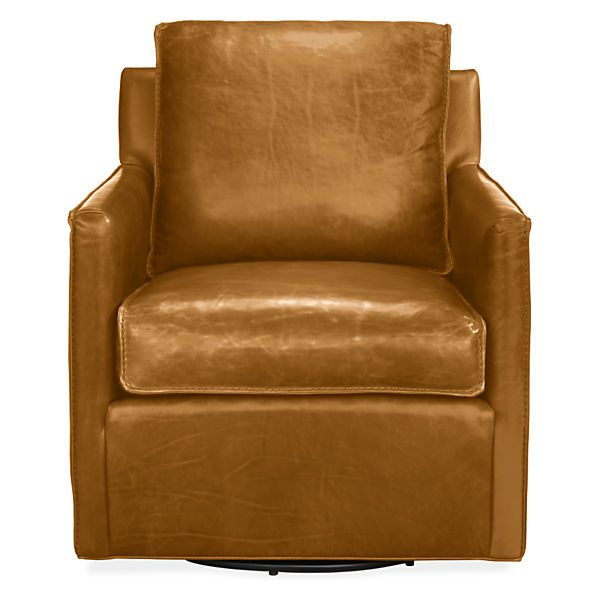 Bram Leather Swivel Chair Modern Accent Lounge Chairs Modern
