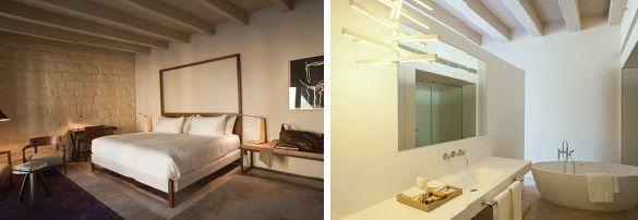 el diseño interior es limpio y sencillo: el protagonismo lo llevan las líneas puras del mobiliario contemporáneo y los vestigios arquitectónicos del pasado.