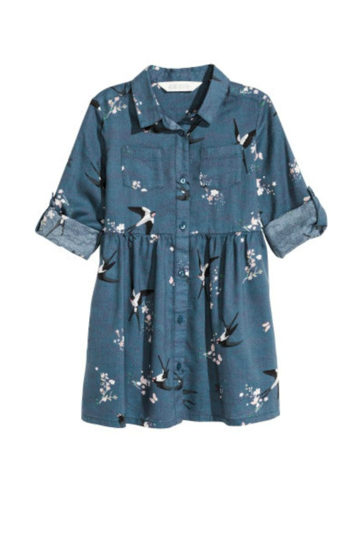 Girls Swallow Patterned Dress | H&M Kids