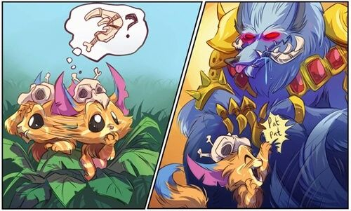 grafika gnar, warwick, and league of legends