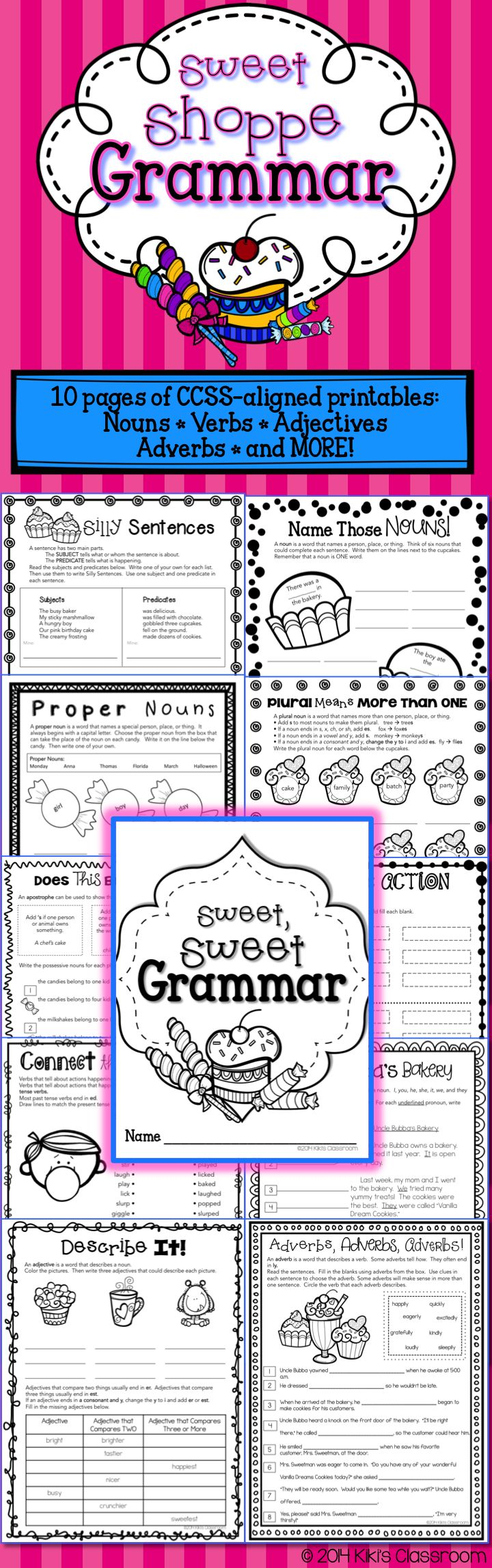 Grammar 3rd Grade - Parts of Speech Worksheets - Parts of Speech Activities