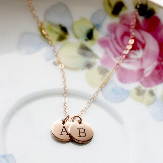 Build Your Own Disc Necklace - Rose Gold Fill