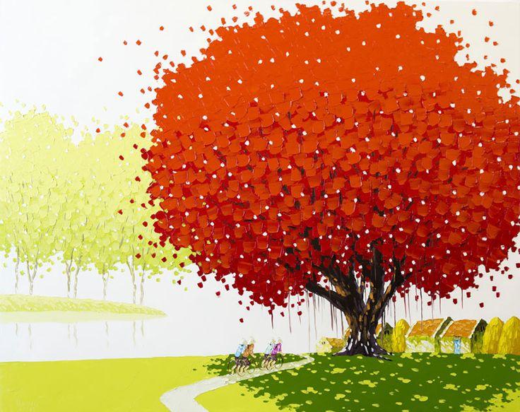 Phan Thu Trang pittura di paesaggio