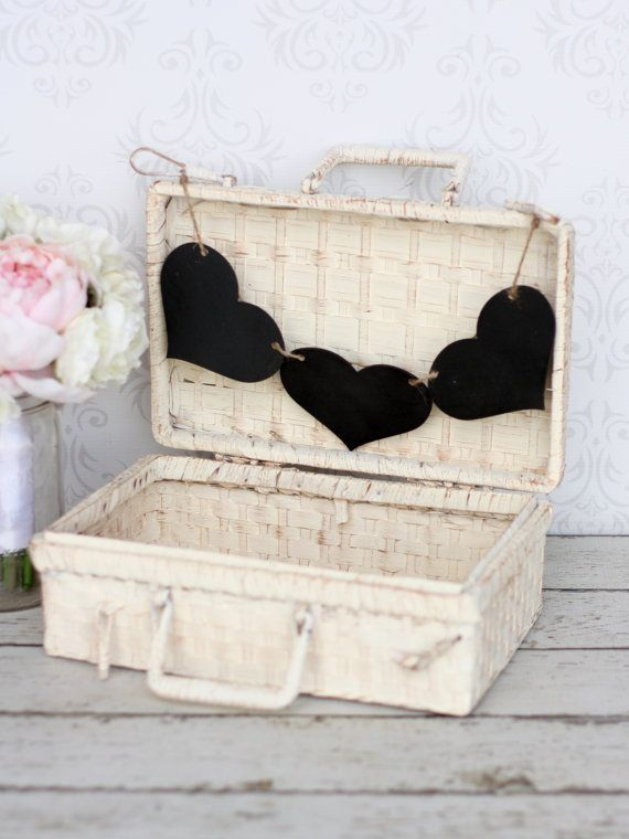 Baby Infant Photo Prop Basket Trunk With Chalkboard Sign Rustic Shabby Chic