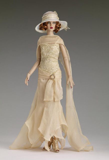 """Gatsby themed doll.  Zelda (Fitzgerald's wife, not in the novel), a centrepiece doll. She is a limited edition of 200 dolls (sold out now), priced at  $165. She has the Cami head sculpt and the 16"""" Antoinette™ body with the Cameo skin tone."""