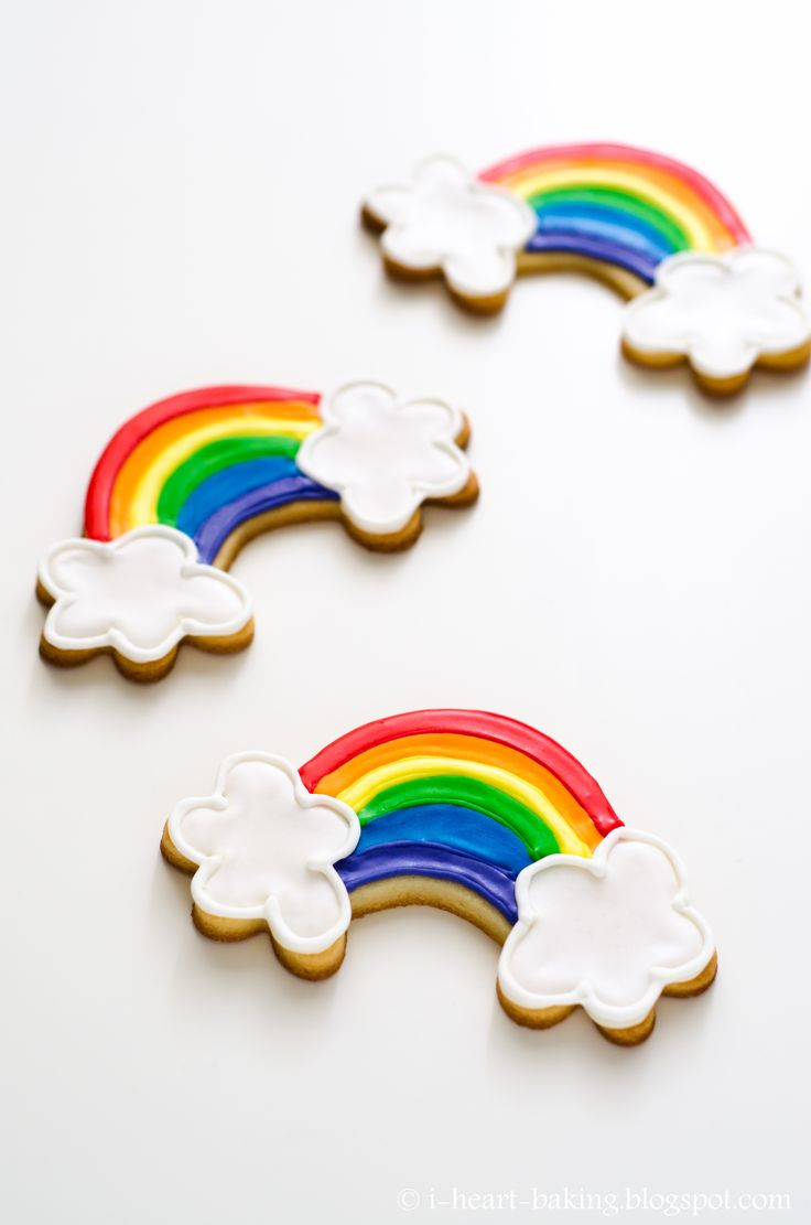 Rainbow Cookies rainbow cookies - sugar cookies decorated with rainbow royal icing