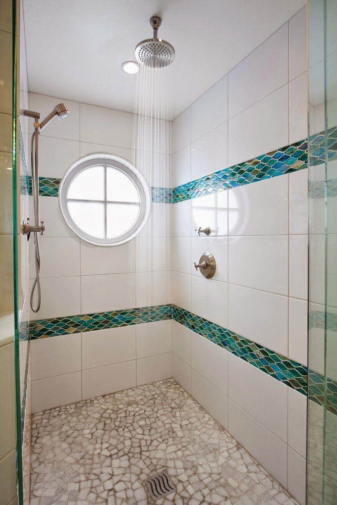 coastal-inspired shower | Brittney Nielsen Interior Design