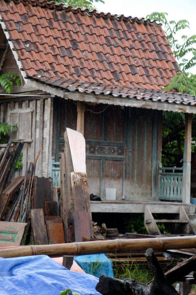 This is an antique Joglo. It's a small, traditional wooden house from Bali.