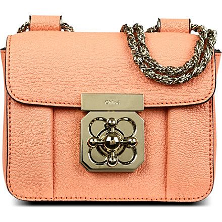 CHLOE Elsie small leather shoulder bag (Coral reef | Fashion ...