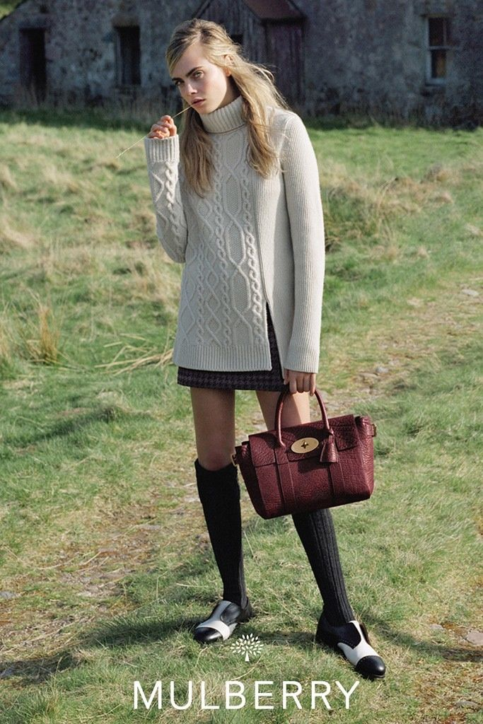 mulberry ad photos fall 2014 2 More Images from Cara Delevingnes Mulberry Ads Surface