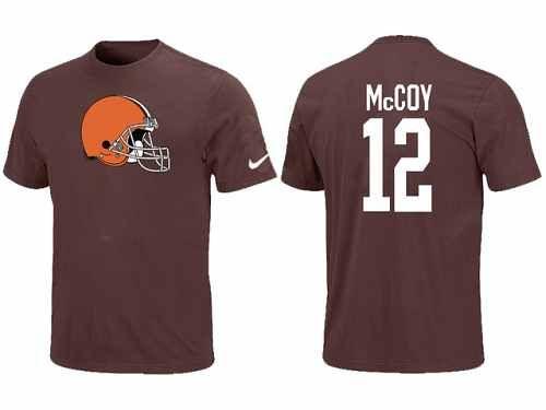 Nike Cleveland Browns #12 Colt McCoy Name & Number NFL T-Shirt - Brown