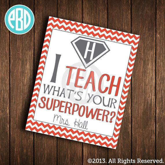 personalized teacher print superhero teacher by paperbelladesign 1000 - Teacher Pictures To Print