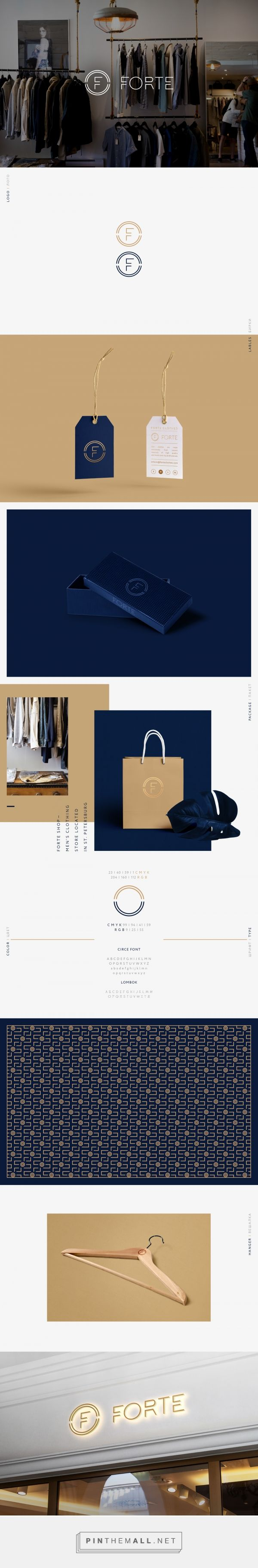 Forte Men's Clothing Branding by Dimitriy Dordyuk | Fivestar Branding Agency – Design and Branding Agency & Curated Inspiration Gallery