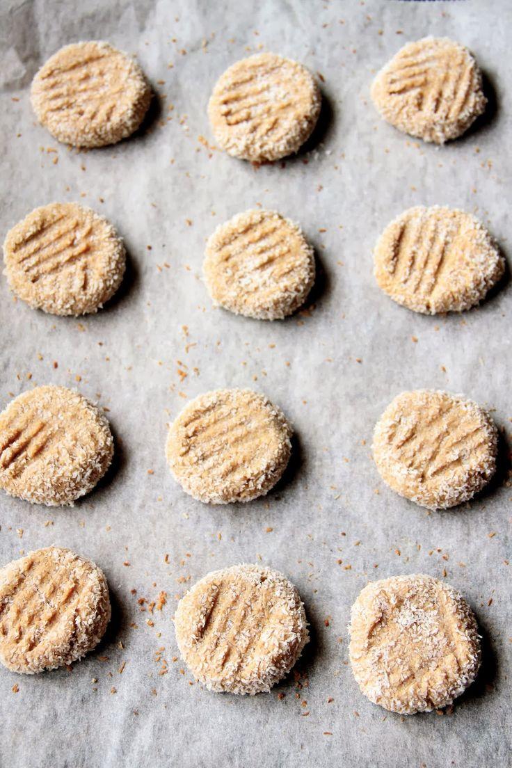 honey peanut butter  coconut cookies