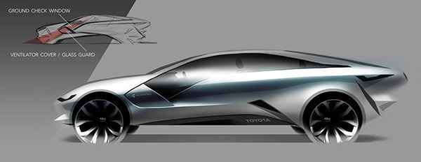 TOYOTA Cross Cruiser / YAMAHA Hover Board on Industrial Design Served