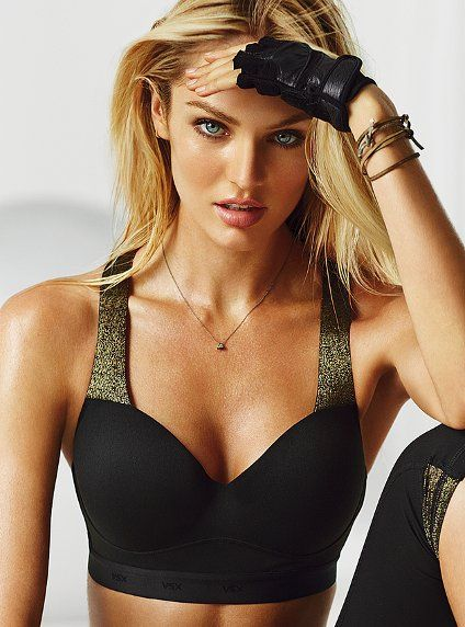 NEW! Showtime by Victoria's Secret Sport Bra    Great shape meets medium support in the Showtime sport bra. Designed in a halter style with soft, padded straps for comfort and lift. Get a runway body in performance workout gear from Victoria's Secret Sport.