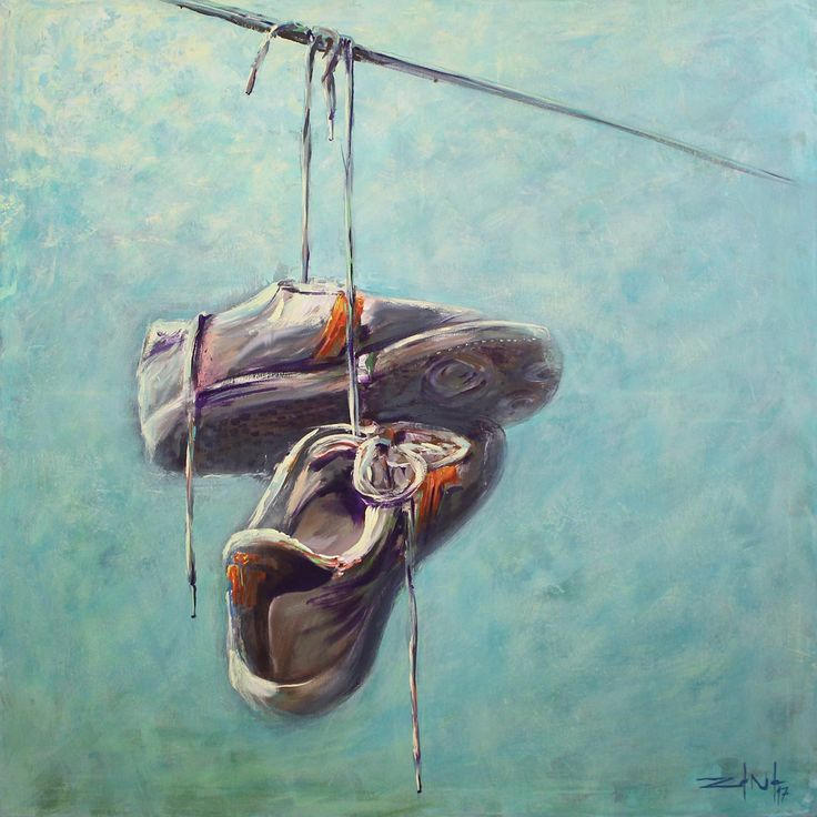 #shoes #paint #painter #painting #tisza #brush #picture #canvas #shoesonthewire