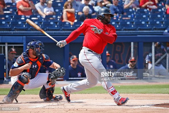 News Photo : Pablo Sandoval of the Boston Red Sox hits the...