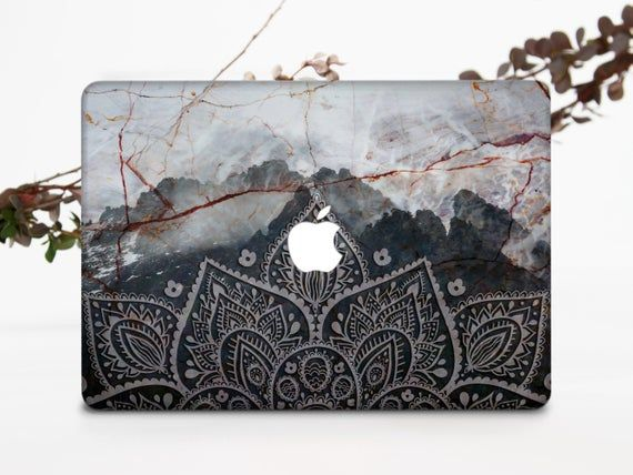 Black Mountains MacBook Air 13 Case Gray Marble MacBook Pro 13 2019 Cover Mandala MacBook Pro 15 Case Dark MacBook Air 11 Case Mac 696D9100