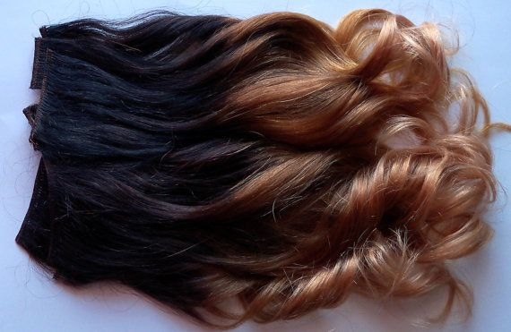 Ombre Clip Fade Clip in Human Hair Extensions Full Set Double Layered 20 Inches Long
