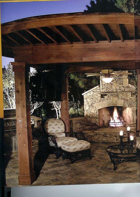 patio pergola fireplace #patio_pergola_fireplace