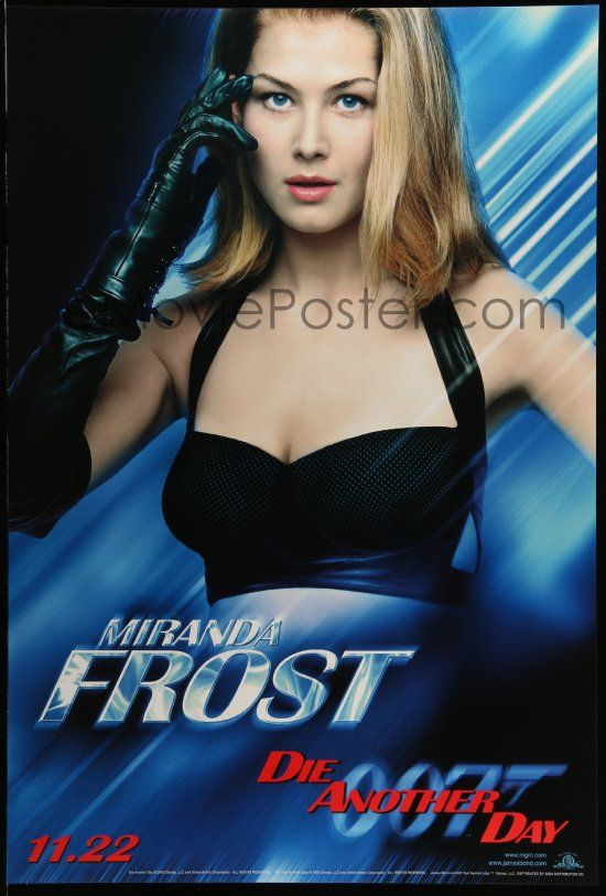 1 of 1 : 4w236 DIE ANOTHER DAY teaser 1sh '02 James Bond, portrait of sexy Rosamund Pike as Miranda Frost!