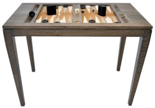 Oomph Backgammon Table in Driftwood